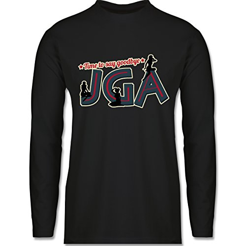 Shirtracer JGA Junggesellenabschied - JGA Pinup Girls - Herren Langarmshirt Schwarz