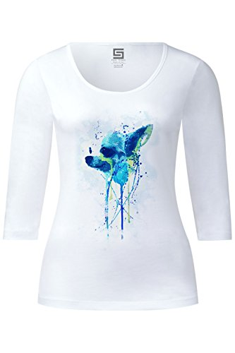 cute-chihuahua-ladies-3-4-arm-designer-shirt-sleeve-stretch-tee-long-sleeve