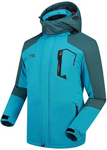 Warme Gefüttert Winterjacke Herren Softshelljacke Wasserdicht Atmungsaktiv Wanderjacke Outdoor Funktionsjacke Sport Regenjacke Blau S