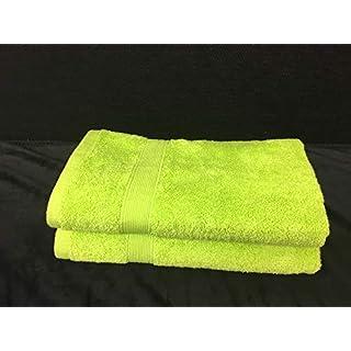 Alpes Blanc Badetuch-Set, 600 g/m², 100% Baumwolle, Handtücher und Badetuch, sehr weich und saugfähig, Green/Vert Anis, 50_x_100_cm