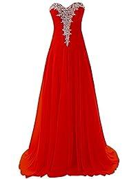 CoutureBridal® Robe Femme Bustier Robe Longue de Soirée Cérémonie Cocktail en Chiffon