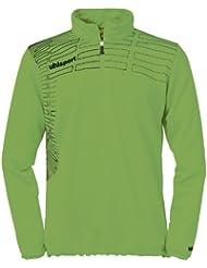 uhlsport Pullover Match 1/4 Zip Top - Sudadera de fútbol para mujer, color verde, talla XL