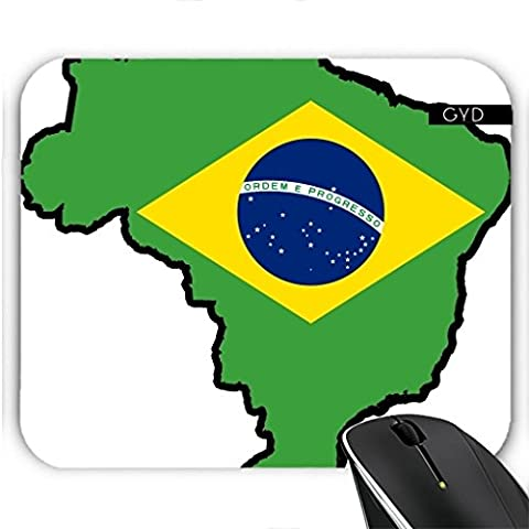 Tapis de Souris - Brazil Flag Map by Cadellin
