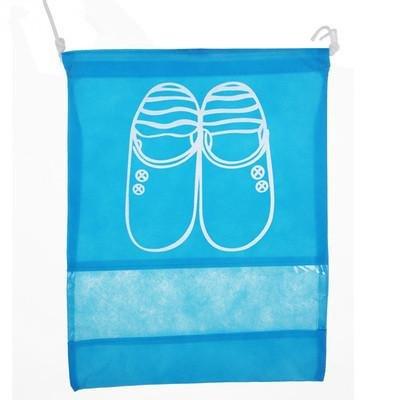 &ZHOU 5pc viaggi scarpe con coulisse, borsa portascarpe visual, antipolvere, trave porta, sacchetto, tessuto non tessuto, borsa scarpa impermeabile a prova d'umidità, Copriscarpe , blue l