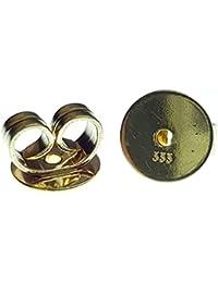 1 Ohrstecker Ersatz Verschluss Pousette 333 8k Gold Ohrmutter Ohrstopper 6 mm Ø