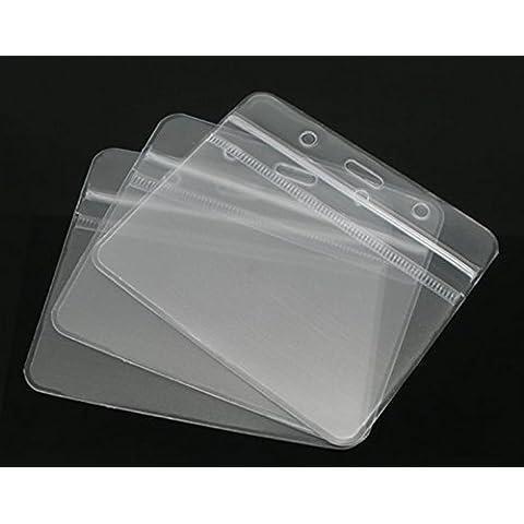 Durable 20 orizzontale con Zip impermeabile, 10 cm x 8 cm, con tasca porta documenti con tasche per mostre visitatori, ecc. - Mostra Acrilico Contenitore