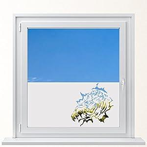 DD Dotzler Design 6416-12 individuelle Sichtschutzfolie Fensterfolie Milchglas Tiger Pranke Kralle Tiere Dschungel