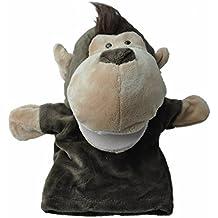 SODIAL(R) Marionetas de mano animales de terciopelo de felpa lindo Diseno chic Juguete de ayuda de aprendizaje para ninos (Mono)