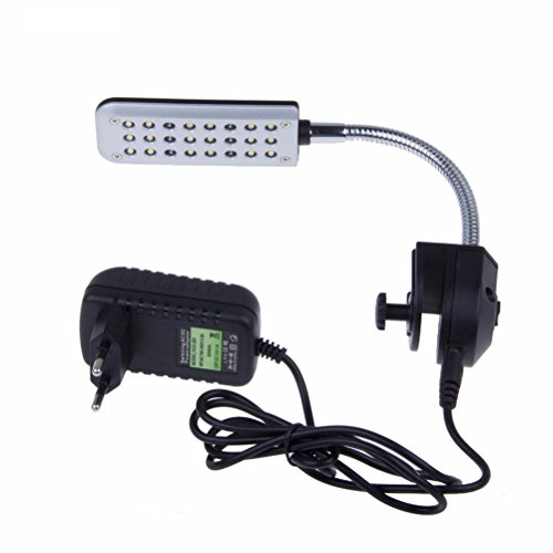 UEETEK 24 LED Clip Aquarium Fisch Tank Lichter Kit für Fisch Tanks mit EU-Stecker -