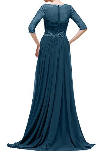 Ivydressing Damen Spitze Abendkleider Mit Aermeln A-Linie Festkleid Promkleid Brautmutterkleider Bildfarbe