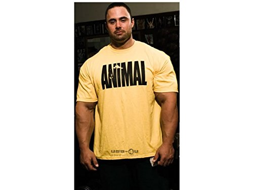 Universal Nutrition Animal maglietta colore giallo Bodybuilding muscolare T-Shirt misure S a XXL Gelb M
