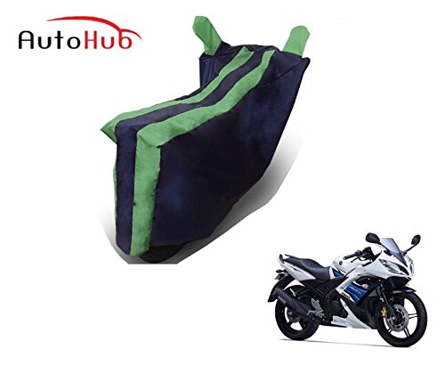 Auto Hub Bike Body Cover For Yamaha YZF R15 S - Black Green  available at amazon for Rs.275