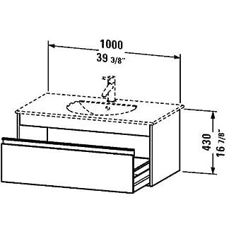 Mueble de pared, 1cajón, 203/4«x 393/8», color blanco mate