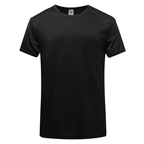 DEELIN Herren Sommer Casual Pure Color T-Shirt Fitness Sport schnell trockene atmungsaktive ()