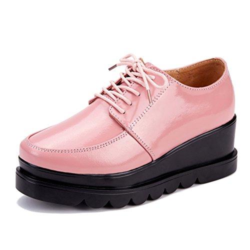 Pattini della piattaforma/Brevetto cuoio tacchi alti/Scarpe zeppe-C Lunghezza piede=22.8CM(9Inch)