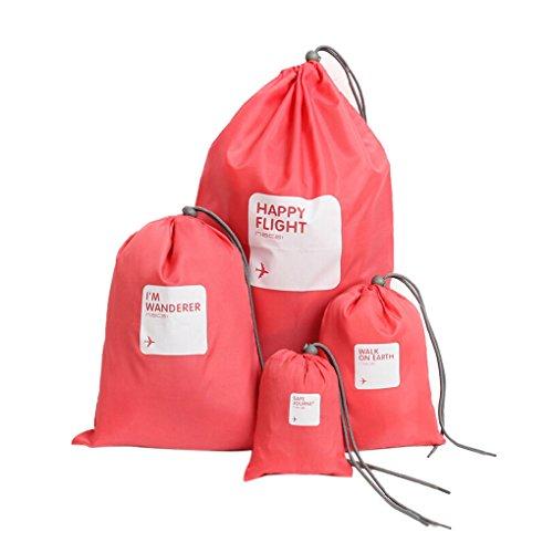 WITERY - Organizador para maletas , rosa roja (rojo) - CLOA0013-05