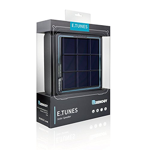 RENOGY E.TUNES tragbarer Solar-Bluetooth-Lautsprecher mit 5000-mAh-Li-Ion-Powerbank
