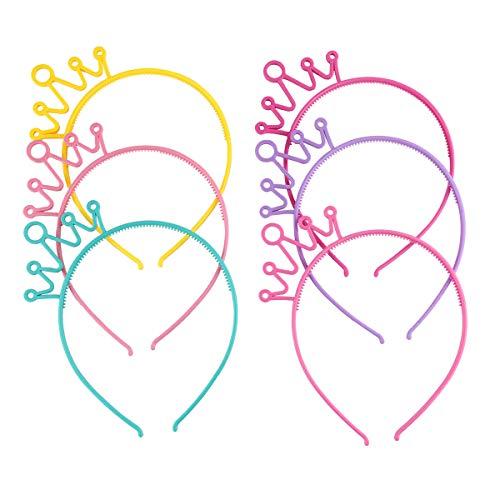 unststoff Crown Stirnbänder Bunte Prinzessin Hairbands Party Zubehör für Kinder Mädchen Frau ()