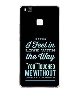 PrintVisa Designer Back Case Cover for Huawei P9 Lite (touchy feeling of love quotes)