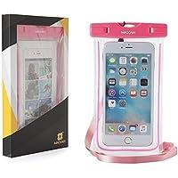 MAXAM® Smartphone iphone copertura custodia impermeabile per iphone/Samsung/Blackberry/Motorola/Nokia/HTC ecc. Durante lo Sport/spiaggia in Sport come il nuoto/sci ecc.Brillare nel buio--rosa