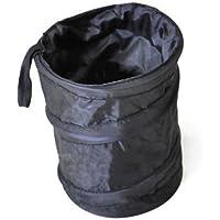 Yunda universale viaggio portatile auto polvere Bin Secchiello Trash Can contenitore RV Garbage pop-up, pieghevole, piccola, colore: nero - Nero Cargo Box