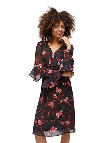 TOM TAILOR für Frauen Kleider & Jumpsuits Naomi Campbell: Kleid mit Floralem Muster Black, 44