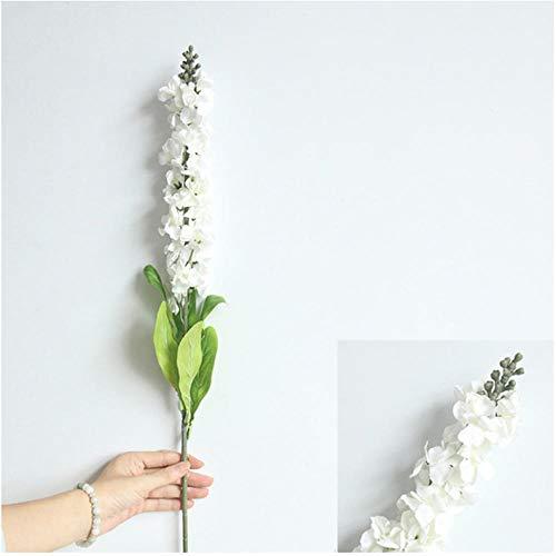 ume 90 cm Hyazinthe Violette Blumen Seide Künstliche Blumen Lange Blumendekoration Für Frühling Hause Hochzeit Hotel Decor Faux Gefälschte Blume-Weiß ()