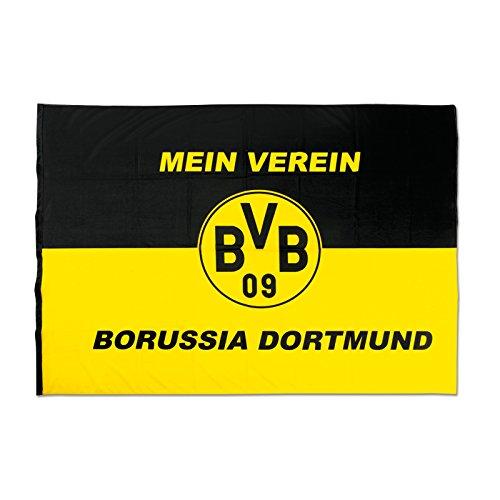 """Hissfahne \""""Mein Verein\"""" 200 x 150 cm Borussia Dortmund"""
