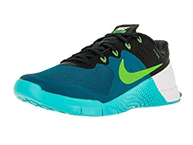 Nike Men s Metcon 2 Training Shoe Green Abyss/Electric Green/Gamma Bl/Bl 11.5 D(M) US