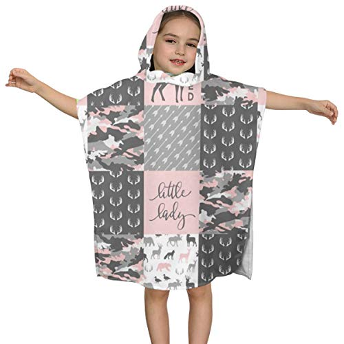 BigHappyShop Baby's Cute Hooded Bath Beach Towel You Are So Deerly Loved Little Lady Camo Woodl Patchwor Ultra Soft Quick Drying Super Soft Single Ply 100% Organic Cotton (Girls Camo Baby-kleidung)