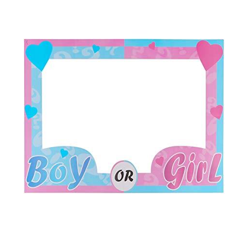 Amosfun Kinder Baby Dusche Photo Booth Prop Geburtstagsparty Papier Photo Frame Boy oder Girl Picture Frame Prop für Geburtstag Hochzeit Brautdusche