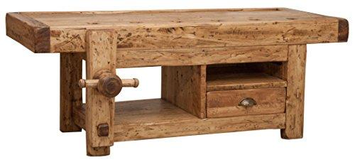 Porte TV en bois massif finition naturelle L120XPR65XH45