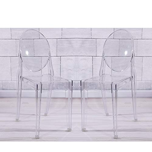 Lamshine Ghost Esszimmerstühle, Acryl, transparent, stapelbar, 2 Stück farblos -