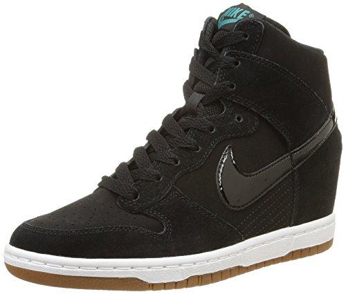 Nike Dunk Sky Hi Mesh 644877 Damen Hohe Sneakers, Schwarz, 37.5 - Schwarz Nike Dunk