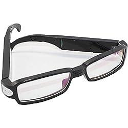 LINAG Spion Kamera Gläser Sportbrillen Aufzeichnung Brille Full HD Mini Versteckte Ski Video Recorder Camcorder Fahrengläser Kamera Spy Mode Digital Reisen im Freien