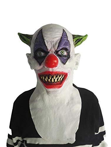 Circlefly Halloween Horror Maske Perücke Thriller Film Thema Abschlussball Requisiten lustige Teufel Zombie Green Corner Clownsmaske