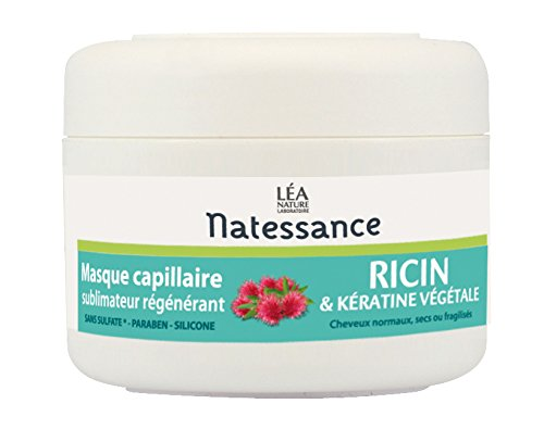 Natessance Capillaire Masque À L'huile de Ricin et Kératine Végétale 200 ml