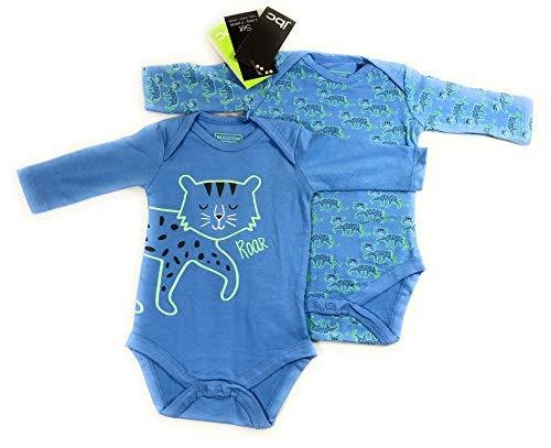 Ventilkappenkönig Baby Bio Baumwolle Body Pyjama Strampler Kleinkind Neugeborene 1er 2er 3er Sets für 0-24 Monate (2er Body Katze, 50-56)