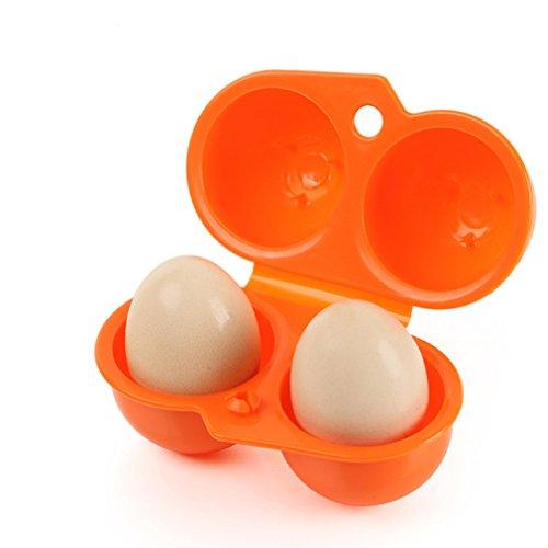 Brilliantday giardino campeggio plastica pieghevole valigetta 2 portauova custodia da viaggio, arancio