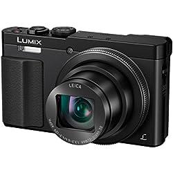 Panasonic Lumix Appareil Photo Compact Zoom Puissant DMC-TZ70EF-K (Capteur 12MP, Zoom LEICA 30x F3.3-6.4, Grand angle 24mm, Viseur, Ecran LCD, Vidéo Full HD, Stabilisé) Noir - Version Française