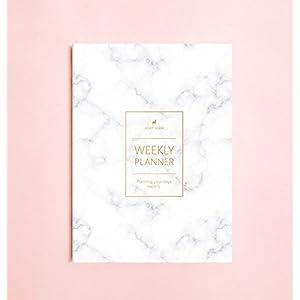 Marmorfarbige Wochenplaner (keine Datum) • 2019 Wöchentliche Notizbuch • Agenda • Tagebuch • Brautjungfer Geschenk • Reiseplaner • Reiseplaner • Aufgabenliste • Tagesplaner • 2019