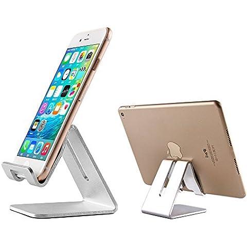 Soporte Móvil, GSTEK Soporte Aluminio para Móvil y Tablet con Muelle de Carga, para iPhone, iPad, Samsung Galaxy / Tab, Kindle E-Reader, Google Nexus, HTC, LG, Sony, Nokia (Soporte Sólido 3,5-10''