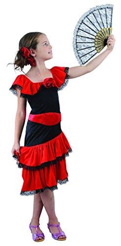 Flamenco Kostüm für Mädchen (Flamenco-tänzerin Zubehör)