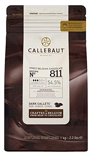 Callebaut dunkle Schokolade, Callets, 1 kg Originalabpackung