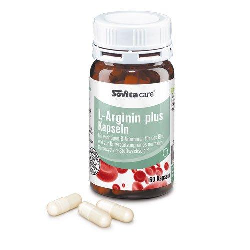 L-Arginin plus Kapseln | Mit wichtigen B-Vitaminen | 60 Kapseln