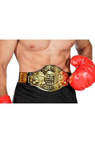 Boxer Boxchampion World Champion Gürtel Boxen Handschuh Boxerhandschuhe Karneval (Boxen Boxer)