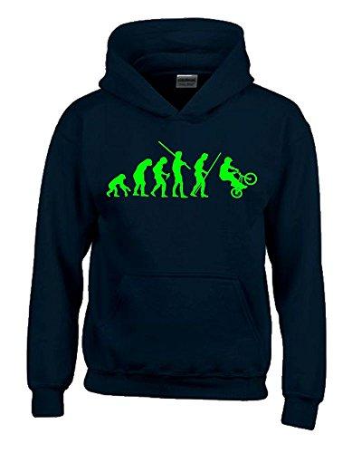BMX Evolution Kinder Sweatshirt mit Kapuze HOODIE schwarz-green, Gr.152cm