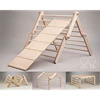 Modifiable Pikler triangle Mopitri, climbing triangle, Kletterdreieck, Pikler-Dreieck WITH A CLIMBING / SLIDING RAMP