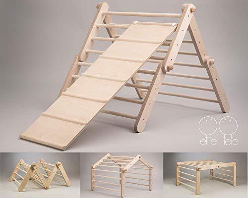 Triangolo Pikler modificabile Mopitri, struttura rampicante per bambini piccoli, Pikler triangle / CON RAMPA