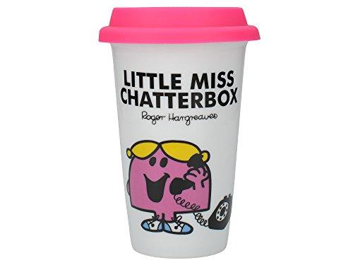 Creative Tops Thermobecher, Porzellan, doppelwandig, Mr.-Men-Motiv: Little Miss Chatterbox (Miss Quasselstrippe), ()
